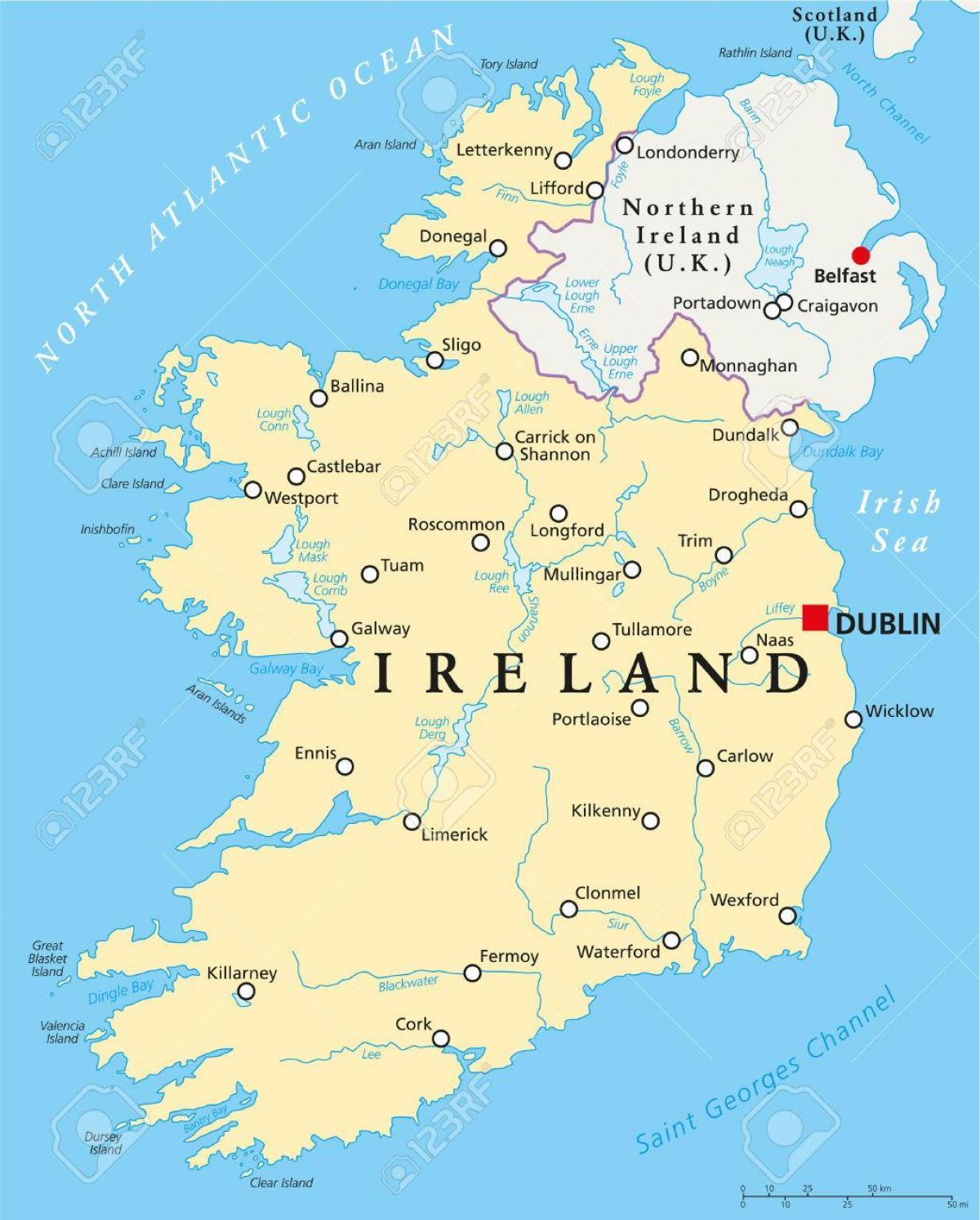dublin irland karte Dublin, Irland map   Dublin anzeigen Irland (Irland)