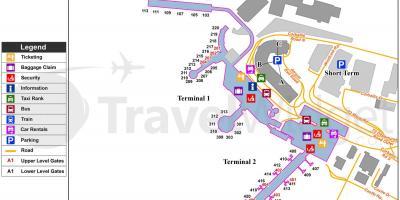 Dublin airport Parken map - Dublin airport car park Karte (Irland) on